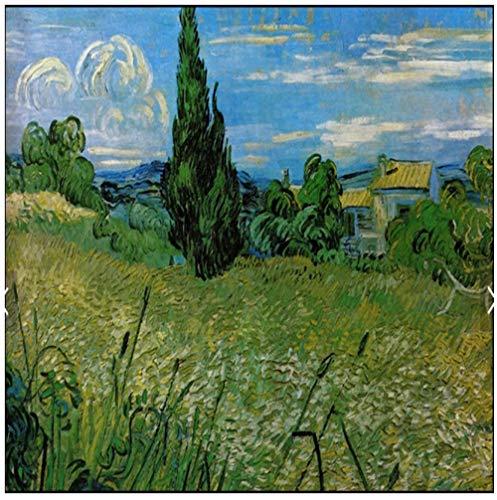 Idyllische Plant Boom Sky Van Gogh Olieverf3d Behang Fotobehang Muurschildering PVC Zelfklevende Huisdecoratie Slaapkamer Woonkamer TV Muur Muren 400(w)x280(H)cm