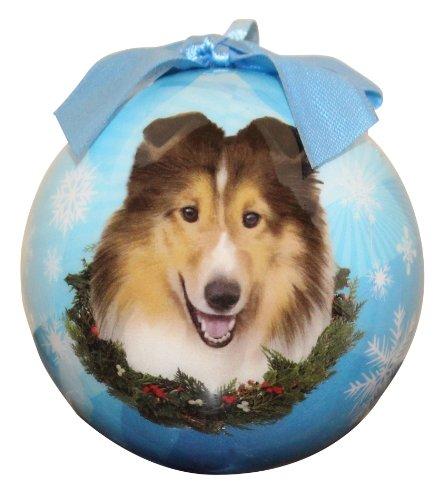 Sheltie Christmas Ornament Shatter Proof Ball