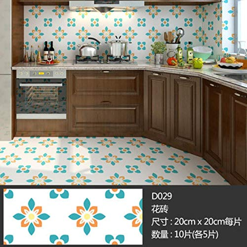 10st Zelfklevende Antislip Keuken Mozaïek Stickers Mat Waterdicht Badkamer Tegel Stickers Vloerpasta Woondecoratie, N