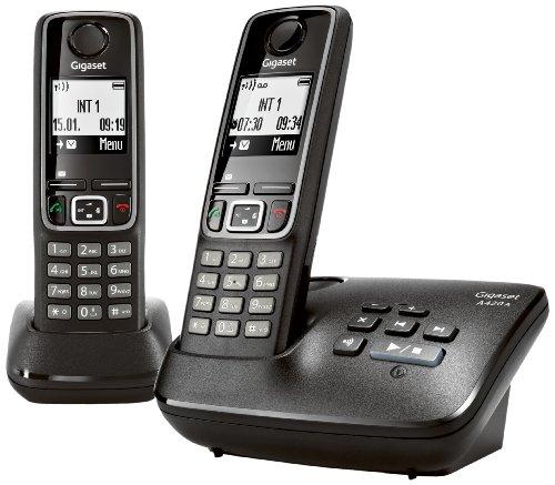 Gigaset A420 A Duo Dect-Schnurlostelefon mit Anrufbeantworter, incl. 1 zusätzlich Mobilteil, schwarz