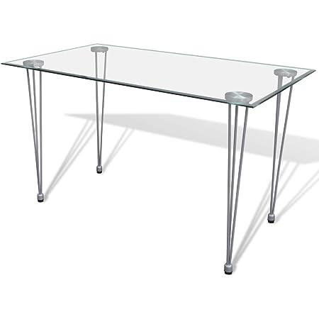 Esstisch Glas mit 6mm Sicherheitsglas /& Facettenschliff 90x60x75cm, schwarz Glastisch perfekt geeignet als Esszimmertisch//K/üchentisch
