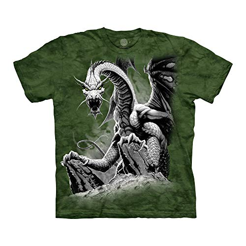 The Mountain Unisex-Erwachsene Black Dragon T-Shirt, grün, Small