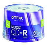 TDK Life On Record Music CDR 50 Pack Spindle 52x