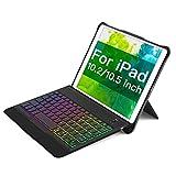 Inateck iPad キーボードケース (iPad 第8世代/第7世代(10.2インチ)、iPad Air 3 2019、iPad Pro 10.5に適合)、数百種類のバックライトがDIYできる、取り外し可能キーボード、KB02015