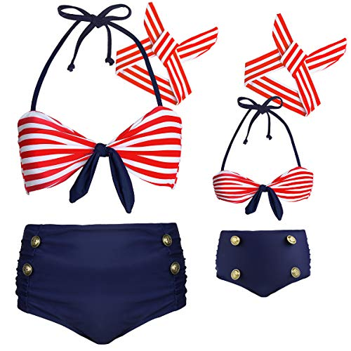 Baby Girls Swimwear kiini Bathing Suit Striped Matching...
