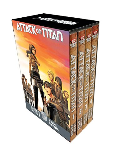 Attack on Titan Season 1 Manga Set [Lingua Inglese]