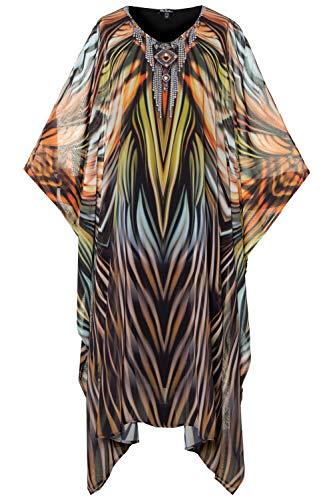 Ulla Popken Damen große Größen Strandkleid Multicolor 54/56 724484 90-54+