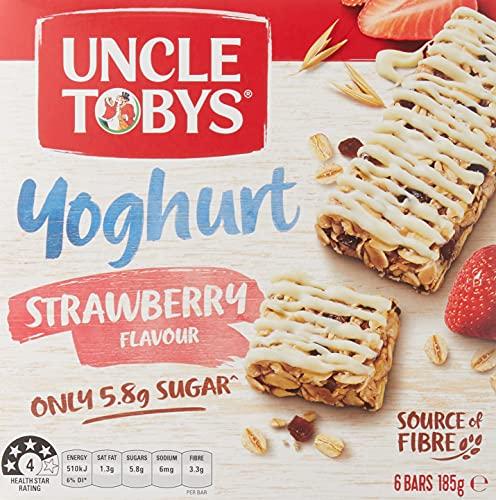 UNCLE TOBYS Muesli Bars Yogurt Topps Strawberry 6 Pack, 185g
