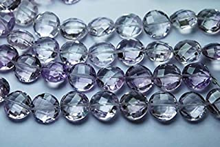 Jewel Beads Natural Beautiful jewellery 4 Inch Strand,Finest Quality,Natural Pink Amethyst Faceted Coins Shape,12mm LongCode:- JBB-28578