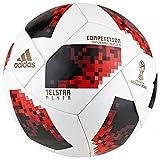 adidas Ballon de compétition FIFA pour Homme Coupe du Monde de Football Knockout Competition Ball, Blanc/Solred/Noir, 5