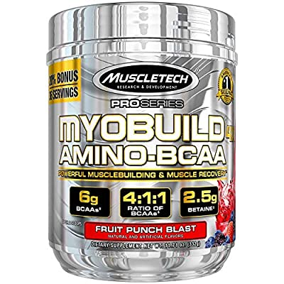 MuscleTech Myobuild BCAA Amino Acids Supplement,