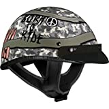 Vega XTA Half Helmet with Born to Ride Graphic (Small)