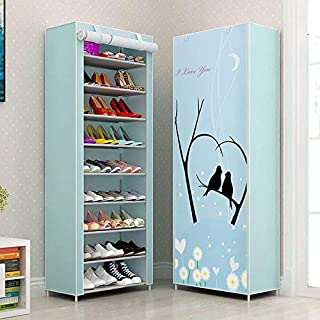 Sterling Shoe Racks for Home, Shoe Rack with Cover 9 Layer Multipurpose Shoes Stand for Shoe Storage Organizer Cabinet Che...