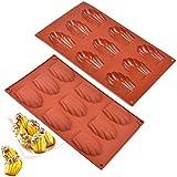 2 pièces moule à madeleine, moule de cuisson madeleines à 9 trous, moulle madeleine silicone,