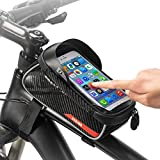 JHVW Bike Frame Bag-Waterproof Bike Accessories with Touch Screen...