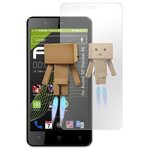 atFolix Bildschirmfolie kompatibel mit Archos 50 Titanium 4G Spiegelfolie, Spiegeleffekt FX Schutzfolie