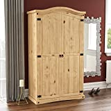 Vida Designs Corona Wardrobe, 2 Door, Solid Pine Wood