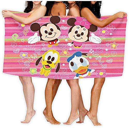 Lfff Minnie Mouse Donald Soft Lightweight Absorbent für Bad Schwimmbad Yoga Pilates Picknickdecke Mikrofaser Handtücher 80cm * 130cm