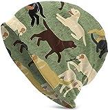 cvbnch Plus de Labradors Vont Chercher la Saint-Valentin 2019 Nouveau Style Chaud drôle Mise à Niveau Adulte Pulls Adulte Tricot Bonnet Chaud Tricot Ski Skull Cap Bonnet Casquette Taille Unique pour