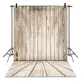 RUINI - Telón de fondo de madera rústica de poliéster con textura de madera para pared y suelo de fotografía, retrato para niños, cumpleaños o fiesta de bebé