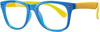 COASION Kids Clear Glasses for Little Girls Boys, Geek Fake Nerd Eyeglasses for Costume (Age 4-12)