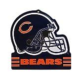 Party Animal Chicago Bears Embossed Metal NFL Helmet Sign, 8' x 8'