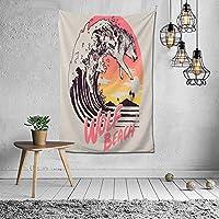 【2021新款】タペストリー 海の上の3つのオオカミ タペストリー インテリア 壁掛け おしゃれ 室内装飾 多機能 寝室 カーテン おしゃれ 個性ギフト 新築祝い 結婚祝い プレゼント ウォール アート 152*102cm
