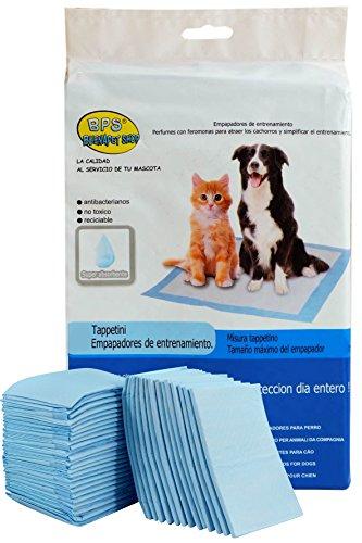 BPS® Empapadores de Entrenamiento para Perros Gatos Perfumes con Feromonas para Atraer los Cachorros y Simplificar el Entrenamiento Producto Mascotas (20 pcs 60 * 90 cm) BPS-2170