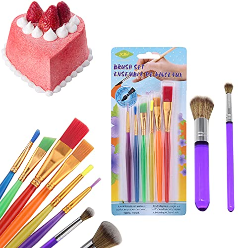 8 Pieces Edible Markers for Cookie Decorating Cake Brushes Supplies Set, Sugar Cookie Baking Brushes Supplies for DIY Cake Sugar Cookie Fondant Decoration Supplies