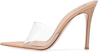 Moda estate sandali in PVC cristallo Aperto Toed donne dei tacchi alti tacco trasparente pantofole dei sandali delle pompe...