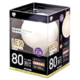 アイリスオーヤマ LED電球 フィラメント口金直径26mm 80形相当 ボール球タイプ 密閉器具対応 電球色 ホワイト LDG9L-G-FW