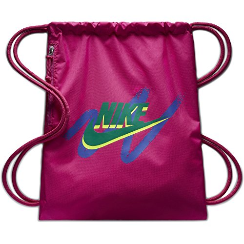 NIKE Sportswear Heritage Graphic Gym Sack, Active Pink/Active Pink/Neptune, One Size