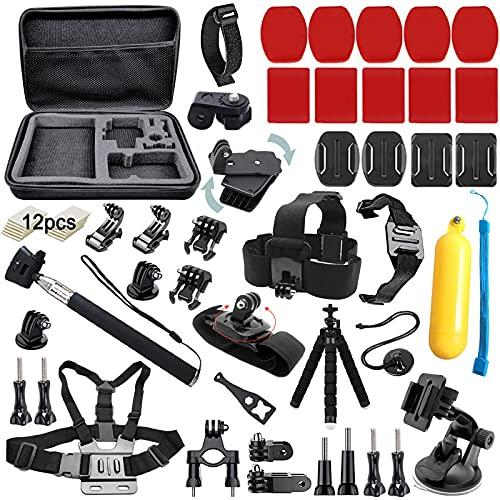 BMUUPY Accessories Kit for GoPro Hero 9 8 Max 7 6 5 4 GoPro 2018 Session Fusion Silver Black Insta360 SJCAM SJ4000 Xiaomi Yi 4K APEMAN DBPOWER Campark DJI OSMO EK5000 EK7000 Action Camera