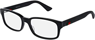 GG0012O Eyeglasses 54-18-145 Shiny Black 001 GG 0012O, Large