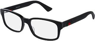 GG0012O Eyeglasses 54-18-145 Shiny Black 001 GG 0012O
