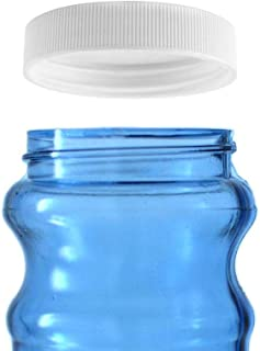 Threaded/Screw-On Caps for 3 and 5 Gallon Water Bottle Jugs (3 pk) (53mm, White)