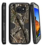 MINITURTLE Compatible with Samsung Galaxy S7 Active Case Shell [MAX Defense] Premium Defender Case Hard Shell Silicone Interior Slim Shell and Holster Tree Branch Camo