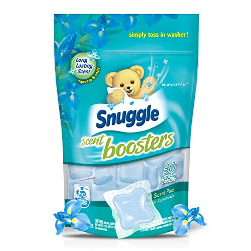 Snuggle Laundry Scent Boosters Concentrated Scent Pacs, Blue Iris Bliss, Pouch, 30 Count