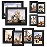Black Picture Frames Set for Wall - 10 Pcs Wall Gallery Photo Frame for Tabletop Display and Wall...