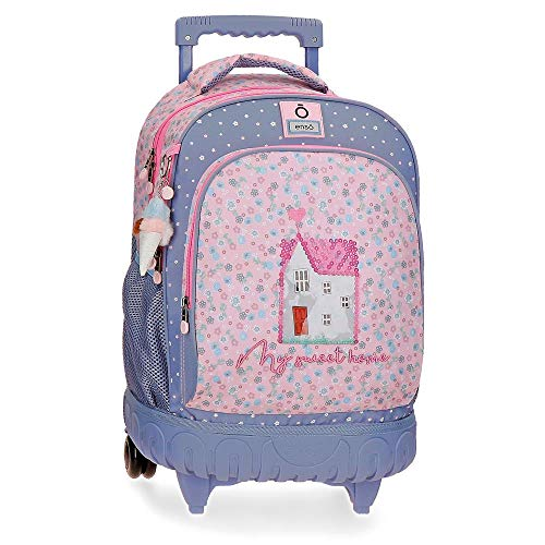 Enso My Sweet Home Backpack 2 Wheels Multicoloured 33 x 44 x 21 cm Polyester 30.49 L
