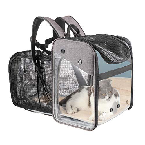 Extensible transparente bolsa de viaje portador del animal, de moda portátil Cápsula espacial del gato del perro Mochila, transpirables Los vehículos para las travesías y los viajes al aire libre