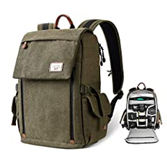 Back Unzip Design-- This camera bag has an awesome design to have it open up in the back so accidents with photo gear spilling out is minimized. Strap it at the waist turn it around and you can easily get your gears out without having to take it off ...