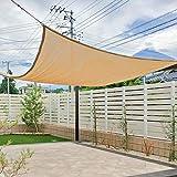 Amahut サンシェード オーニング 日よけ シェード セイル ベランダ 目隠し 洋風 庭・ガーデン用 砂色 200*300cm