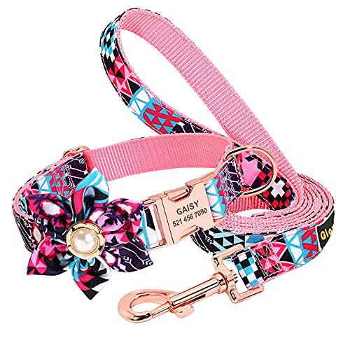 YJYJ Linda Princesa Viento Letras láser Personalidad Cuerda de tracción Suministros para Mascotas Collar de Perro Correa de Perro Multicolor cinturón de Seguridad para Perros,Púrpura,0.78 * 19.68in