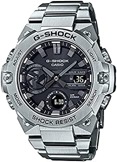 Casio G-Shock G-Steel Analog Digital,Solar Power,Mobile link,Black Dial,Stainless Steel Solid Band - GST-B400D-1ADR.