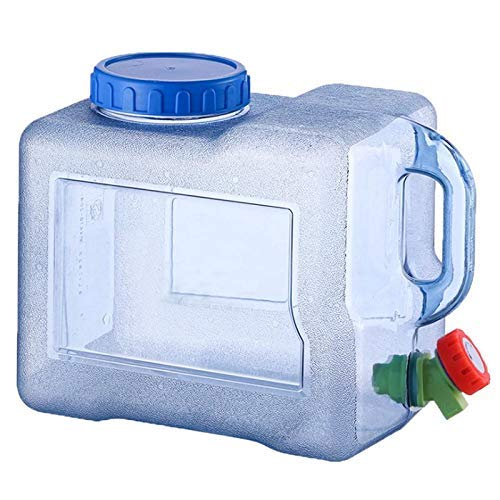 Fliyeong El agua plástica portátil puede fácilmente el tanque de agua con el grifo - 8L durable y útil