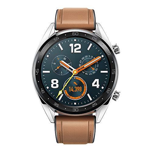 Huawei Watch GT Classic Smartwatch (46 mm Amoled Touchscreen, GPS, Fitness Tracker, Herzfrequenzmessung, 5 ATM wasserdicht) Saddle/braun - 2