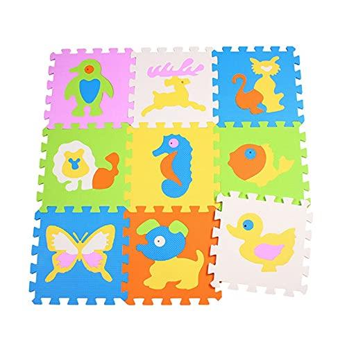 Suave 9pcs / set EVA Espuma Play Mat Stitching Crawling Rug Mat Mat Mats Montaje Montado Alfombra Puzzle Pista de rompecabezas para juegos para niños Decoración Hogar ( Color : Pattern randomly )