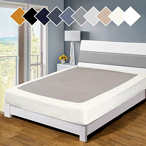 Twin Six Premium Bed Box Spring Cover, Twin/Twin XL Size, Update Bed Skirt, Mattress Protector Encasement, Ivory
