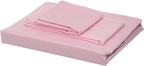 Al Maamoun Set Of Plain Bed Sheet, 1 Pillow, 2 Small Pillow - Pink